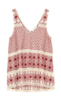 Jaipur Embroidered Boho Tank Top - Velvet by Graham & spencer