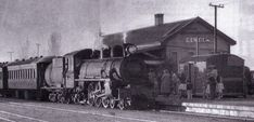 The Clyde railway station in the Steam Engine, Steam Locomotive, Good Old, New Zealand, Trains, 1950s, Cars, Model, Vintage