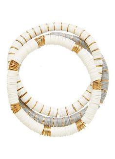 #seed Multi sequin stretch bracelet set.