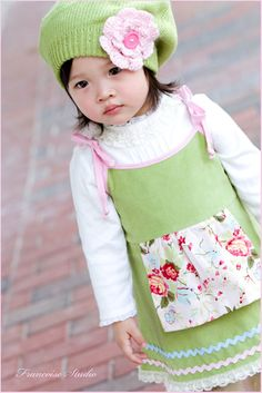 little girl apron dresses | Custom corduroy baby toddler jumper dress - Tendresse - French ...