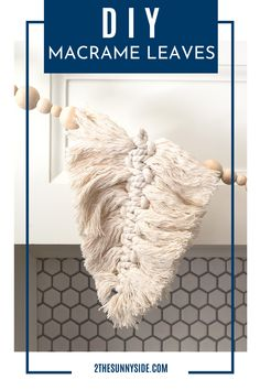 """If you've been swept away with the current macrame frenzy, you're not alone. It's mesmerizing how each pattern is made. As a beginner you may wonder """"Can I teach myself to macrame?"""" """"How do I get started with macrame?"""" """"What is the easiest thing to macrame?"""" Anyone at any skill level can most definitely learn how to macrame! So we've got the perfect beginner macrame project for you! Easy fall leaves. #beginnermacrameprojects #howtomacrame #easymacrame"""