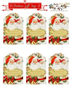 Christmas with Glenda Christmas Gift Tags Printable, Free Christmas Printables, Vintage Christmas, Christmas Crafts, Xmas, Christmas Things, Christmas Holiday, Quick Halloween Crafts, Easy Crafts