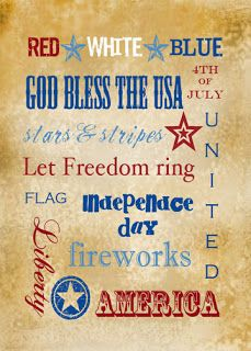 Therapeutic Crafting: 4th of July Printable