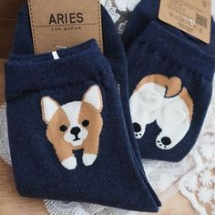 Buy Oz Garden Corgi Print Socks at YesStyle.com! Quality products at remarkable prices. FREE Worldwide Shipping available!