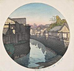 Kawase Hasui (1883-1957) Afternoon at the Nino Bridge at Azabu, from the series Tokyo junikagetsu 1921 (28,7 x 28,5 cm)