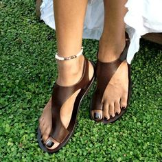 Fashion Casual Pin-Toe Flat Sandals womens sandals summer sandals summer outfit summer sandals outfit sandals for summer summer shoes sandals sandals summer casual sandals summer comfortable sandals outfits pretty sandals Ankle Strap Heels, Strap Sandals, Flat Sandals, Boho Sandals, Pretty Sandals, Women Sandals, Beach Sandals, Beach Shoes, Heeled Sandals