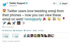 Twitter sigue mejorando características y ahora ha incluido la posibilidad de publicar emojis o emoticonos en los tweets. Por el momento en la versión web.