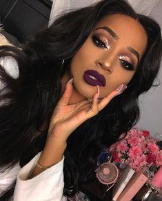 38 Eyeshadow Makeup Tips Ideas For Black Women - Make Up Ideas - Makeup Makeup On Fleek, Flawless Makeup, Cute Makeup, Glam Makeup, Gorgeous Makeup, Pretty Makeup, Eyeshadow Makeup, Makeup Tips, Hair Makeup