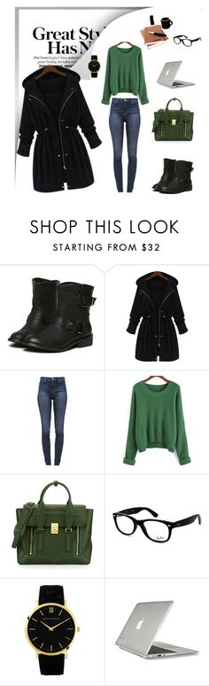"""""""School time """" by dinelaa ❤ liked on Polyvore featuring J Brand, 3.1 Phillip Lim, Ray-Ban, Larsson & Jennings and Speck"""