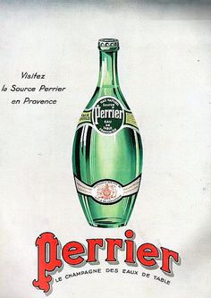 the 1930s-ad for Perrier mineral water
