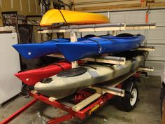 Homemade Kayak Trailer Rack