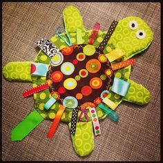 Turtle and ribbon? Perfect for my little monster. Probably would stuff it a little. She loves stuffed animals.