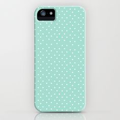 Blue Dots iPhone & iPod Case by Allyson Johnson - $35.00