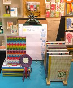 Display in our booth of rainbow genius notebooks & owl notebook paper Craft Show Booths, Craft Fair Displays, Market Displays, Store Displays, Display Ideas, Stand Feria, Craft Stalls, Bazaar Crafts, Thought Bubbles