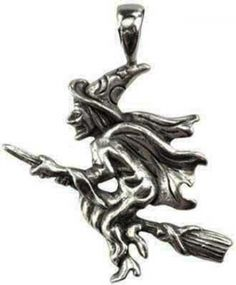 "Wicca Magik amulet. This amulet seeks to use this powerful depiction of magic and sorcery to aid you as a focus in casting your spells. Made in USA. Has cord. Pewter. 1 1/2"" x 1 1/4"""