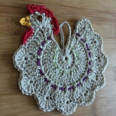 Chicken potholder free pattern