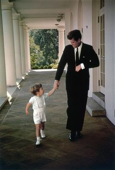 Together in Heaven - President John F. Kennedy and John Jr. circa 1960