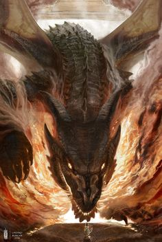 """thelittledragonheartthings: """" All-Consuming Fire by Rhos (shared with permission from the artist) """""""