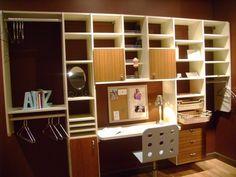 walk in closet with desk | California Closets