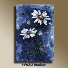 Canvas Print of Original acrylic painting Blue by EditVorosArt, $120.00