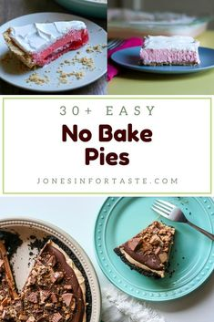 Choose from one of these amazing easy no bake pies to satisfy your sweet tooth that won't keep you nice and cool this summer. These are perfect whether you want to make a pie just for yourself (totally not judging) or need an easy dessert to take to a potluck or party. Chocolate Chip Cookie Pie, No Bake Chocolate Cheesecake, No Bake Pumpkin Cheesecake, Coconut Cheesecake, Oreo Cream Pies, Cream Cheese Pie, Fresh Strawberry Pie, Strawberry Desserts, New Dessert Recipe