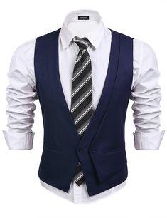 Men s Clothing, Suits amp; Sport Coats, Men s Skinny Wedding Dress Vest V-neck Slim Fit Suit Vest Waistcoat - Navy Blue - Mens Suit Vest, Mens Suits, Western Outfits, Skinny Wedding Dress, Groomsmen Vest, Men's Waistcoat, Slim Fit Suits, Skinny Suits, Classic Suit