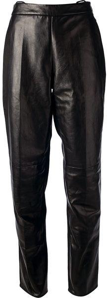 PETAR PETROV Black High Waist Tapered Trouser - Lyst
