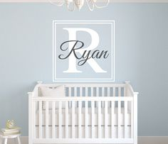 Custom Square Name Wall Decal By LovelyDecals - Check it out!! Now!! On Sale!!