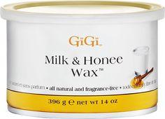 Milk & Honee Wax, suitable for all skin types #gigi  #gigiwax #hairremoval #hairfree #spa