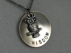 OWL WISDOM Necklace  Owl Jewelry  Wise Jewelry  by TheRunHome, $19.00