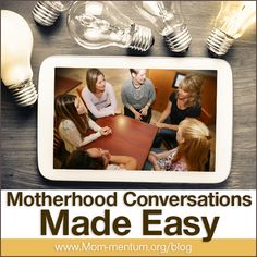Connecting with and finding support among a group of mothers is important. Mom-mentum continues to prioritize connecting and supporting moms, and today we introduce you to our newest conversation resource: Discussion Guide Curriculums.