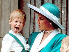 """""""Harry's the naughty one, just like me."""" ~ Princess Diana (she would be so proud of her boys...)"""