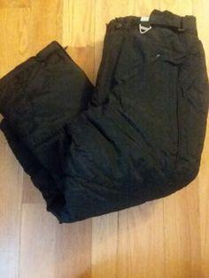 b1440c0ccce9 Boys Snow Pants Reebok Size 8 Black Elastic Waist Adjustable  Reebok   SnowPants