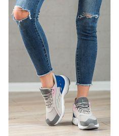 Pohodlné športové topánky Athletic Women, Athletic Shoes, Aquamarine Colour, Types Of Heels, Sports Shoes, Sports Women, Capri Pants, Navy Blue, Shoes Heels