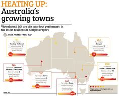 Victoria and WA are the standout performers in the latest residential hotspots report. Heat Map, Loan Calculator, Infographic, Victoria, Australia, News, Infographics, Visual Schedules