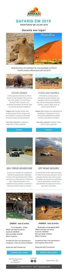 Safaris em 2019 - Aventuras em Zâmbia e Namíbia Safari, Off Road, 4x4, The Journey, Traveling, Adventure, Places, Offroad