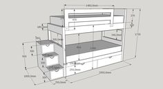 Loft Beds For Small Rooms, Bunk Bed Rooms, Low Loft Beds, Kids Bunk Beds, Room Design Bedroom, Kids Bedroom Sets, Small Room Bedroom, Small Room Design, Kids Room Design