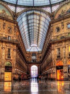 La bellissima Galleria Vittorio Emanuele, Milano