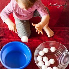 Spielideen für drinnen: Wasser - Nestling