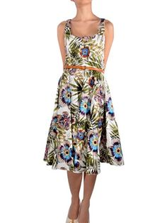 Galliano  floeal print dress