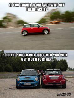 This is very true! Mini Cooper Accessories, Mini Cooper Sport, John Cooper Works, Mini Clubman, Parts Catalog, Small Cars, Travel Alone, Big Love, Performance Parts