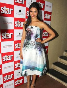 Deepika Padukone during the launch of Star Week's Diwali edition. #Bollywood #Fashion #Style #Beauty