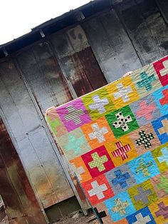 Plus, Plus:: a finished quilt | Stitched in Color | Bloglovin'