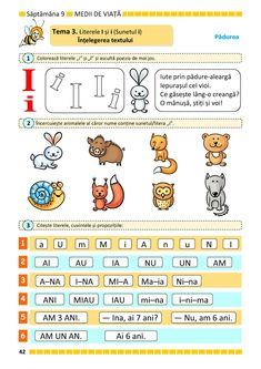 Clasa Pregătitoare : Comunicare în limba română pentru clasa pregătitoare. Partea I Paper Trail, Preschool Worksheets, Montessori, Children, Kids, Homeschool, Activities, Spiderman, Spider Man