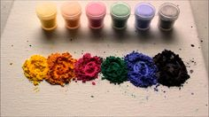 Thermochromic Pigments, are supplied in paste form, when heat is added the product loses its colour - when temperature returns to normal the colour returns.
