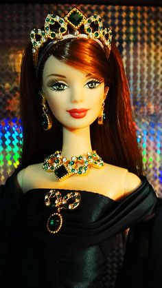 Empress of the Emerald Barbie by possiblezen, via Flickr