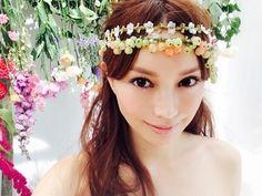 蛯原友里の花かんむり姿♡ #蛯原友里 #model #花冠 #flower