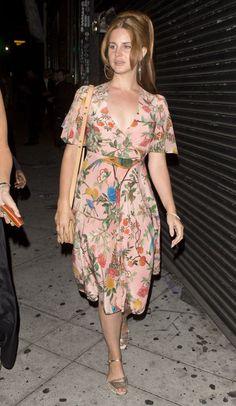 Lana Del Rey leaves Lady Gaga's birthday party in Los Angeles, California. 3.26.16