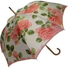 Umbrella with Roses On Handle | Raindrops|Umbrellas:Adult Pasotti 492r Roses…