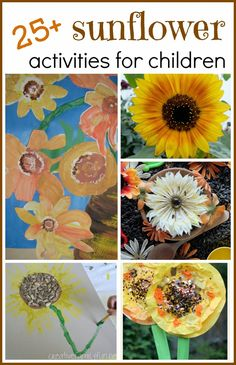 rubberboots and elf shoes: 25+ sunflower activities for children